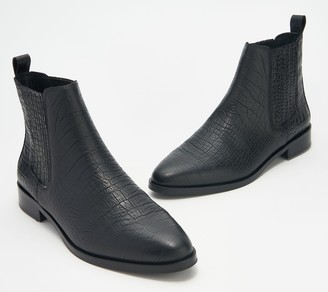 Vince Camuto Leather Pull-On Ankle Boots - Haventa