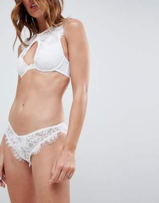 Asos DESIGN Bridal Markle Corded Lace Hipster Bikini Bottom