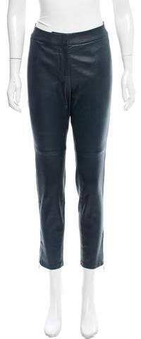 Kate Spade New York Mid-Rise Estella Leather Pants w/ Tags