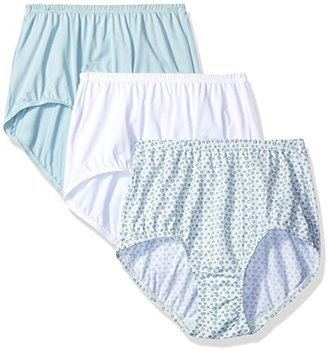 Olga Women's Plus Size 3 Pack without a Stitch Tailored Brief $27 thestylecure.com