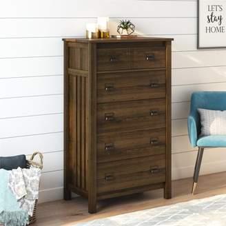 Better Homes & Gardens Printer Pull 5-Drawer Dresser, Homestead Oak