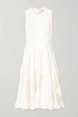 Roksanda Keanu Silk-crepe And Faille Midi Dress - Ivory