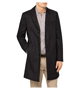 Ted Baker 3 Button Herringbone Overcoat