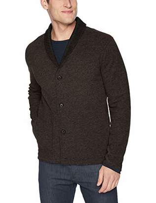 Billy Reid Men's Long Sleeve Mouline Shawl Collar Cardigan Sweater Jacket