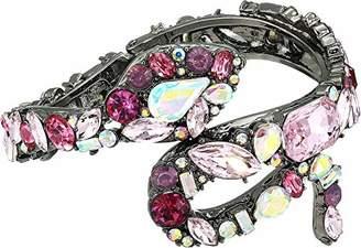 Betsey Johnson GBG) Fairy Forest Stone Snake Hinged Bangle Bracelet