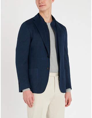 Corneliani Regular-fit hopsack-weave linen and cotton-blend blazer