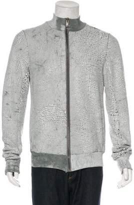 Rick Owens Cracked Zip-Up Jacket