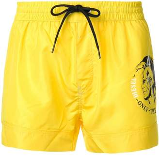 Diesel side logo swim shorts