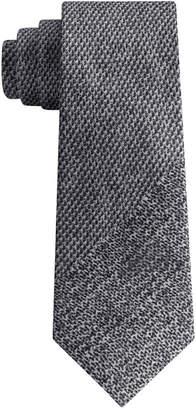 DKNY Men's Photo Realistic Panel Print Silk Slim Tie