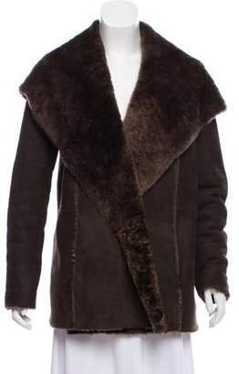 Vince Hooded Shearling Jacket