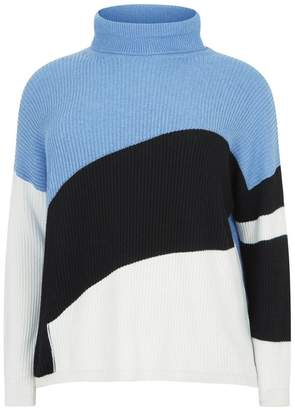 Marina Rinaldi Block Colour Roll Neck Sweater