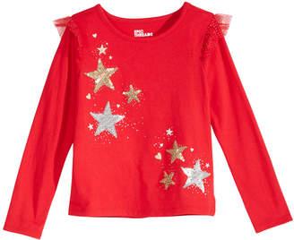 Epic Threads Toddler Girls Flutter-Sleeve Sequin T-Shirt