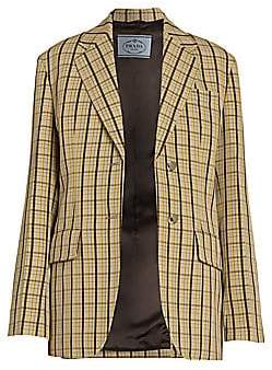 Prada Women's Micro Check Jacket