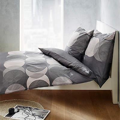 Bettwäsche 135x200 grau-weiß 5770/825