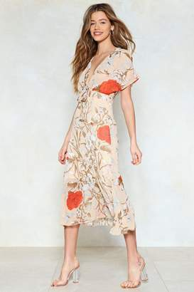 Nasty Gal Cover the Field Floral Dress