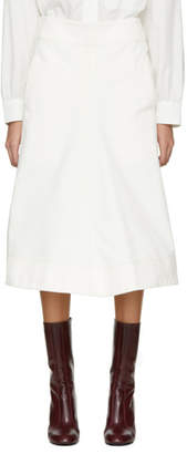 Lemaire Off-White Flared Skirt