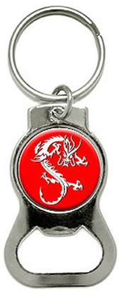 Dragon Optical Red Bottle Cap Opener Keychain Ring