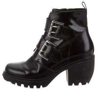 Opening Ceremony Patent Leather Buckle Booties