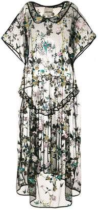 Henrik Vibskov floral embroidered drop waist dress