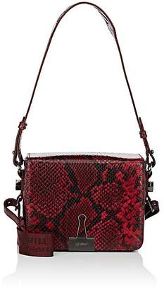 Off-White Women's Binder-Clip Small Python-Stamped Leather Crossbody Bag
