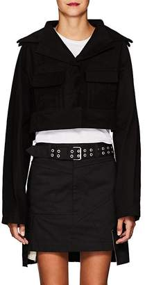 Yohji Yamamoto Women's Stretch-Cotton Crop Jacket