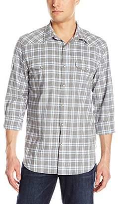 Lucky Brand Men's Santa Fe Western Shirt in Gray Plaid