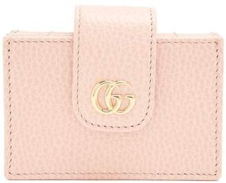 Gucci Gg Marmont Expandable Leather Cardholder - Womens - Light Pink
