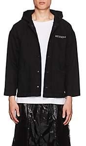 """RtA Men's """"Darkside"""" Embroidered Denim Coach's Jacket - Black"""