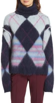 Diane von Furstenberg Mohair & Alpaca Blend Turtleneck Sweater
