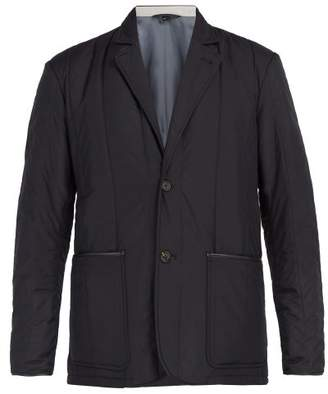 Dunhill Quilted Blazer - Mens - Navy