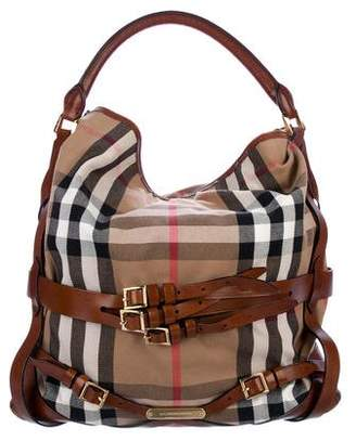 Burberry Medium Bridle House Check Gosford Hobo