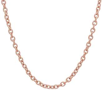 """Steel By Design Stainless Steel 18"""" Cable Link Necklace"""