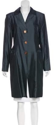 Tahari Woven Knee-Length Coat