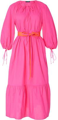 MDS Stripes Garden Midi Dress