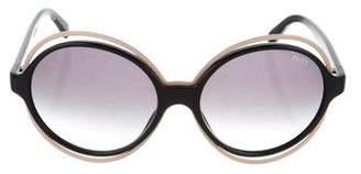 Emilio Pucci Oversize Round Sunglasses