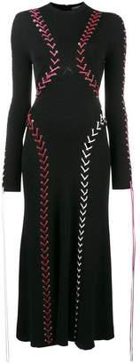 Alexander McQueen knitted tie detail dress