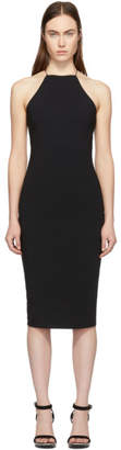 Alexander Wang Black Swim Jersey Crisscross Back Dress