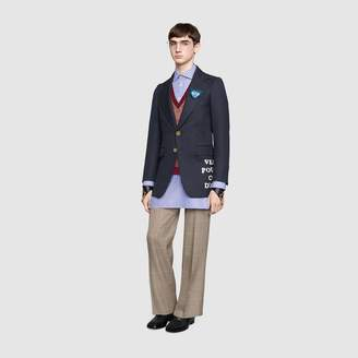 Gucci Wool twill jacket with applique