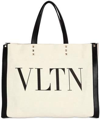 Valentino Printed Logo Tote Bag