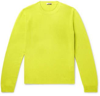 Valentino Neon Cashmere Sweater - Yellow