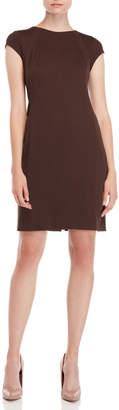 Cynthia Fields Solid Ponte Sheath Dress