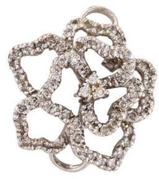14K Diamond Flower Fixed Pendant white 14K Diamond Flower Fixed Pendant