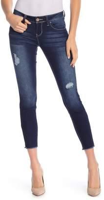 YMI Jeanswear Jeans WannaBettaButt Frayed Hem Ankle Jeans (Juniors)