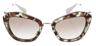 Miu Miu Square Gradient Sunglasses w/ Tags