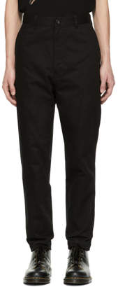 Comme des Garcons Homme Black Selvedge Chino Trousers