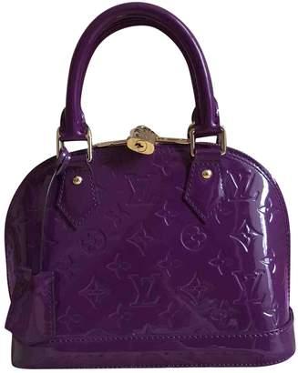 Louis Vuitton Alma Bb Patent Leather Handbag