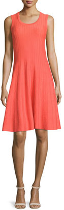NIC+ZOE Twirl Sleeveless Knit Dress, Hot Coral $198 thestylecure.com