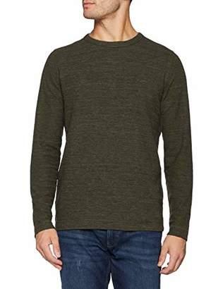 f45053eda9 Camel Active Men's T-Shirt 1/1 Crew-Neck Longsleeve (Light Grey