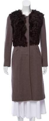 Lafayette 148 Fur-Trimmed Wool Coat