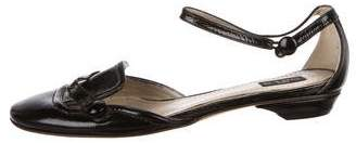 Etro Round-Toe Patent Leather Ballet Flats
